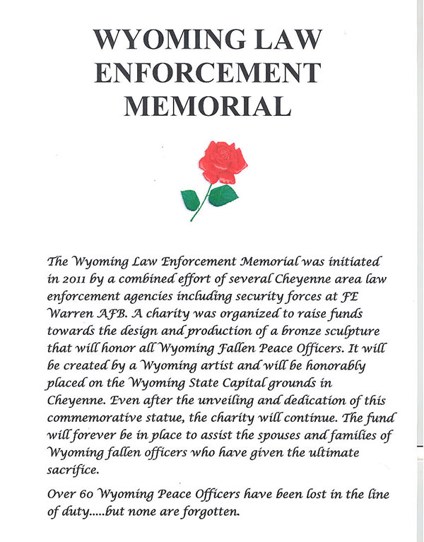 Wyoming Fallen Officer Memoriam And Procession Twelve Oclock Saturday May 10th At The State Capitol